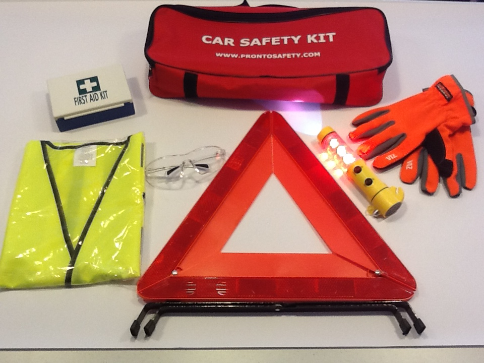 Vehicle safety kit content