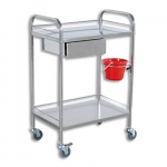 MEDICAL/INSTRUMENT TROLLEY SMALL SINGLE DRAWER