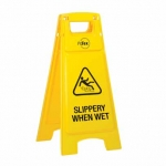 Plastic A-Frame Sign Stand Slippery When Wet
