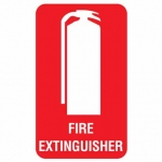 Fire Extinguisher Sticker Pk 10