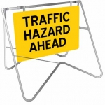 Swing Stand Sign - Traffic Hazard Ahead